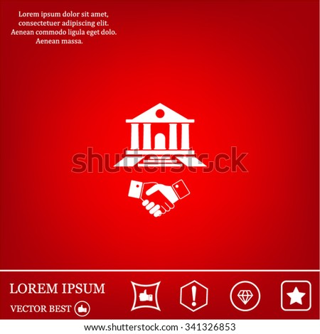 Banking agreement vector icon - stock vector