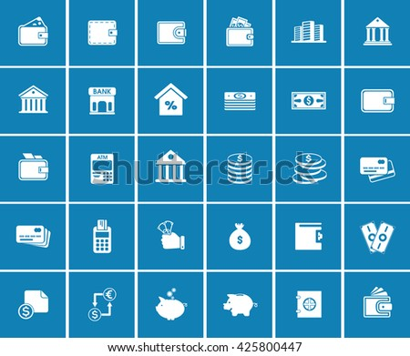 banking icons - stock vector