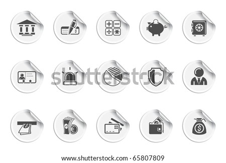 Banking icons. Stickers - stock vector