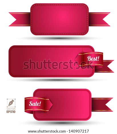 Banner embroidery / can use for promotion / sale offer/ marking - stock vector