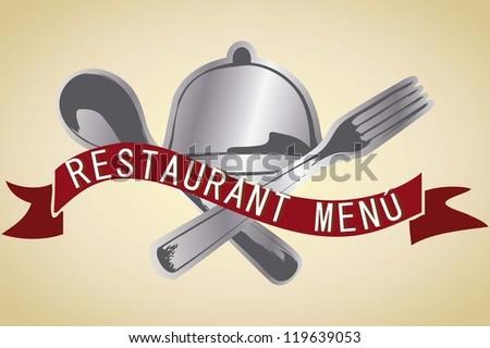 Banner for restaurant menu with vintage background vector illustration - stock vector