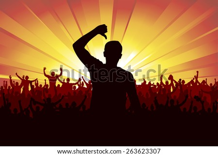 Banner for sporting events and concerts - stock vector