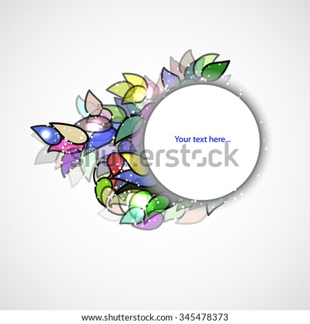 banner for your text with colors petals - stock vector