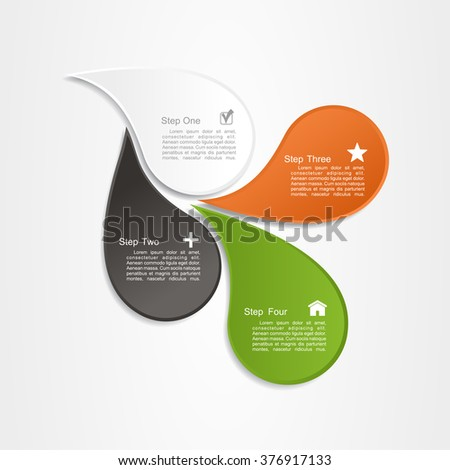 Banner infographic design template. Vector illustration. - stock vector
