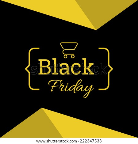 Banner or poster template for black Friday sale.  - stock vector
