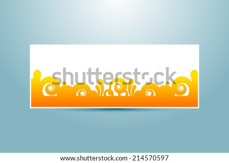 banner template - stock vector