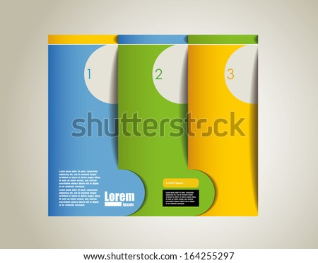 Banner template. corporate brochure or cover design, can be use for publishing, print and presentation. - stock vector