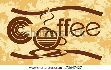 banner with coffee  - stock vector