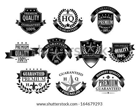Banners and badges for retail design in retro style - stock vector