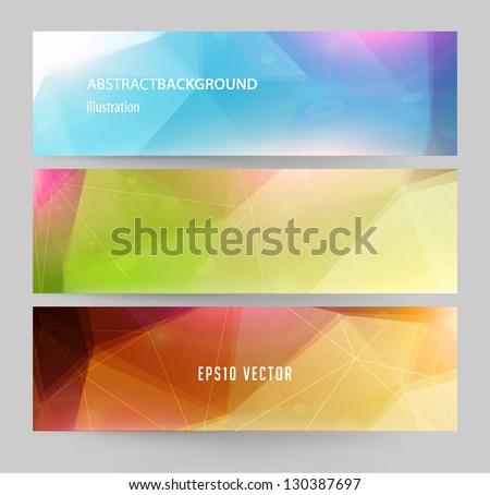 Banners for business modern design, eps10 vector illustration - stock vector