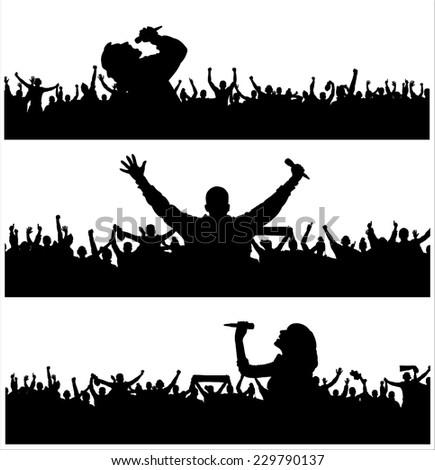Banners for music festival. - stock vector