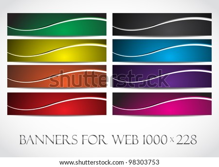 Banners for web (Vector collection5). Clip-art - stock vector