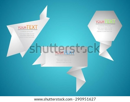 banners paper design - stock vector