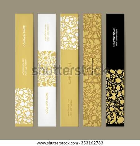 Banners set, floral design. Vector illustration - stock vector