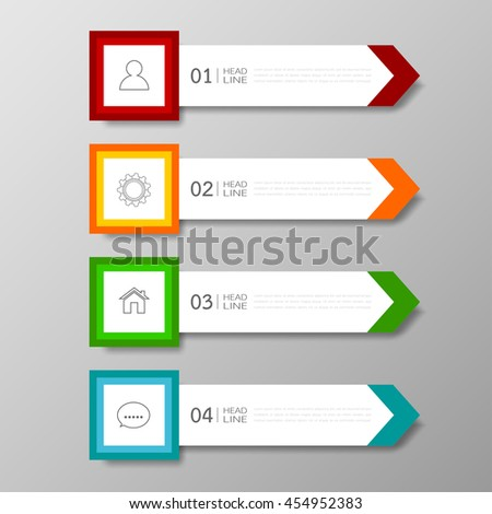 Banners template colorful tabs design Illustration vector business card and text box infographics for web presentation layout. - stock vector