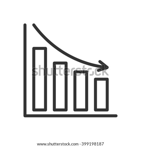 Bar Chart. Fully scalable vector icon in outline style. - stock vector