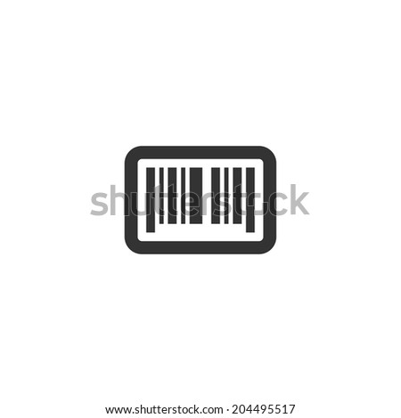 Bar code icon - stock vector