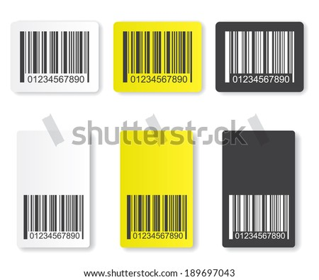 Bar code illustration - stock vector