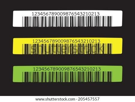 Bar code.  illustration - stock vector