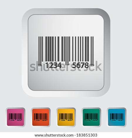 Bar code. Single color flat icon. Vector illustration. - stock vector