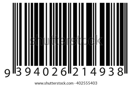 bar code to identify the product. vector eps10 - stock vector