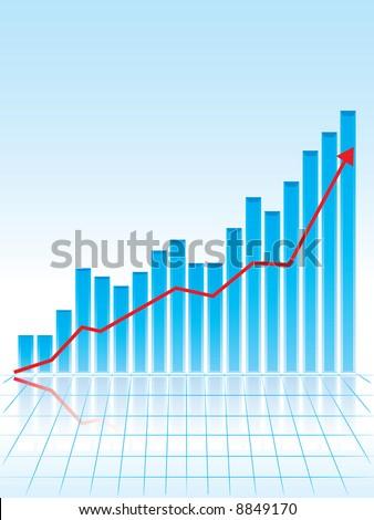bar graph - stock vector