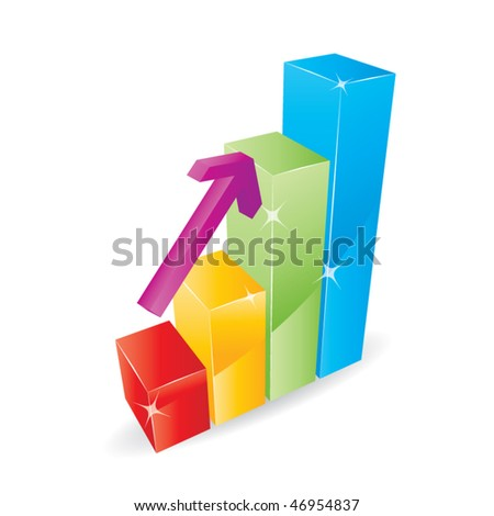 Bar Graph Vector - stock vector