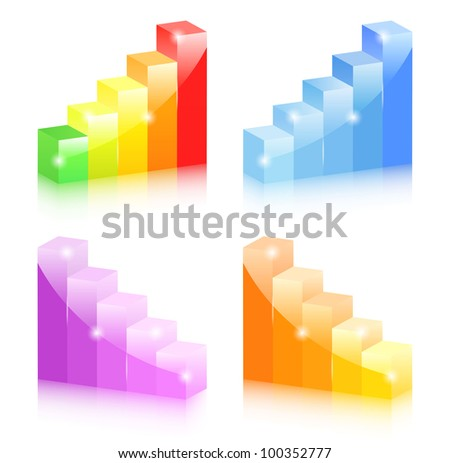 Bar graphs, vector eps10 illustration - stock vector
