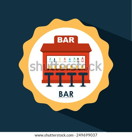 bar icon design, vector illustration eps10 graphic - stock vector