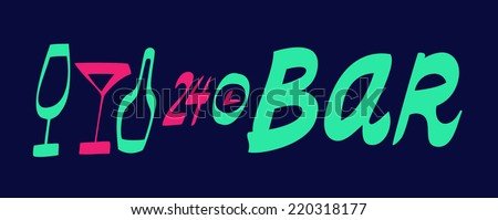 Bar vector sign  - stock vector