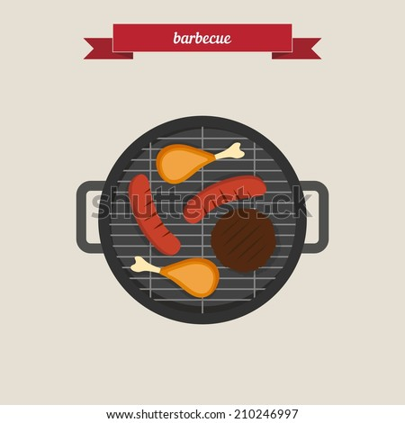 Barbecue flat style design vector stock vector