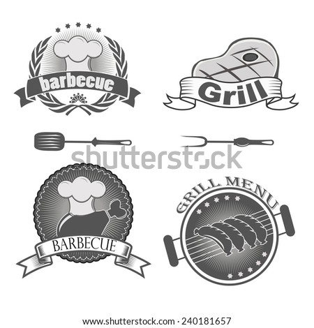barbecue grill menu  - stock vector