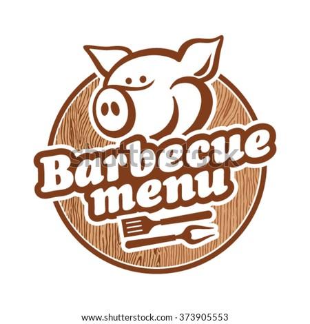 Barbecue Menu Design - stock vector