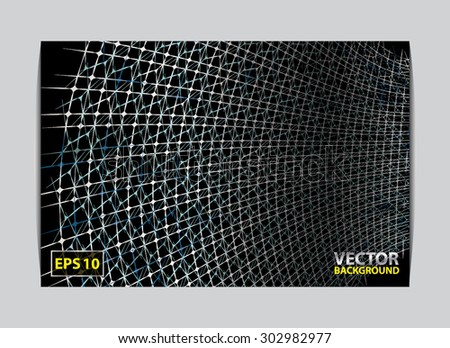Barbed Wire texture Mesh background pattern with a place for your text. Vector illustration - stock vector