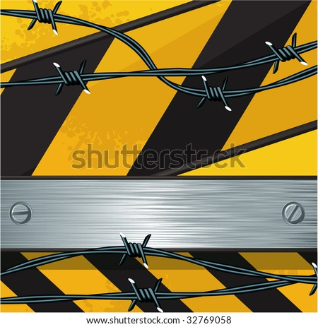 Barbed wires. Vector. - stock vector