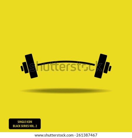 Barbell - Single Icon Series vol. 2 - stock vector