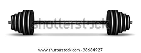 Barbell vector - stock vector