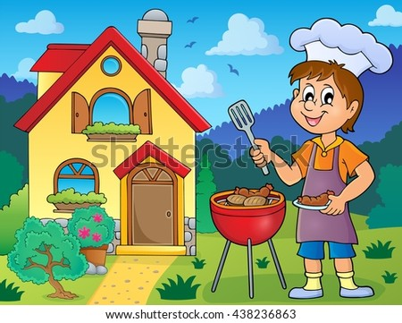 Barbeque theme image 3 - eps10 vector illustration. - stock vector