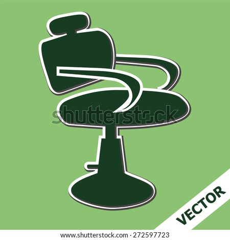 Hair salon chair isolated stock vectors amp vector clip art