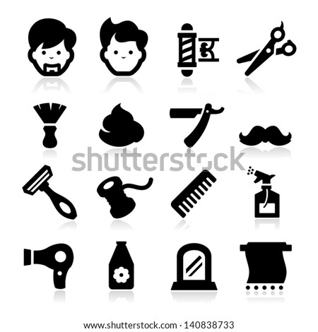 Barber Icons - stock vector