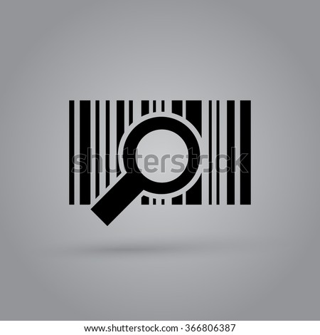 Barcode background with magnifier - vector element for design - stock vector