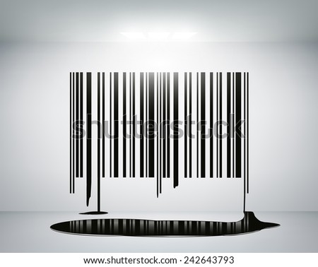 barcode on the wall - stock vector