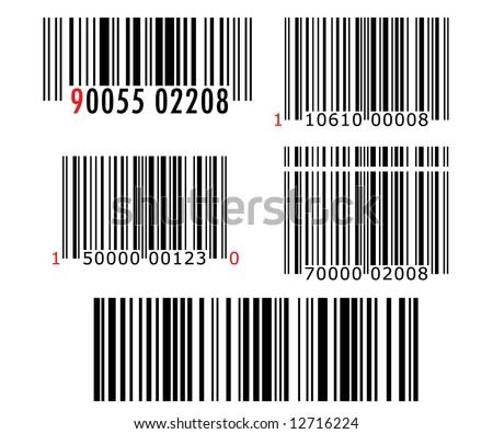 Barcode pack vector - stock vector