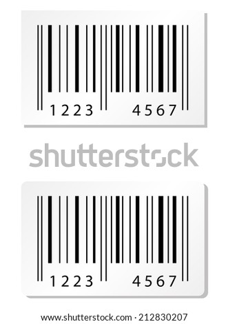 Barcode Stickers - stock vector