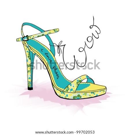 Barefoot Fashion - stock vector