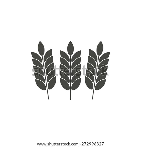 Barley  - vector icon in black on a white background. - stock vector