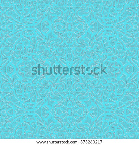 Baroque Style Light Blue and Silver, eps10 - stock vector