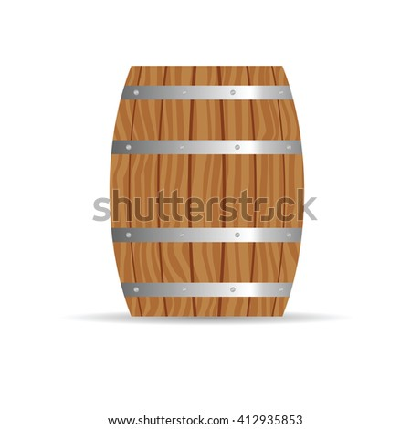 barrel icon in brown color illustration - stock vector