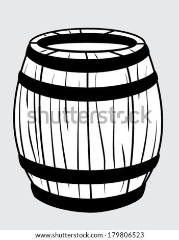 barrel outline - stock vector