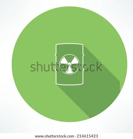 barrel with hazardous material icon - stock vector
